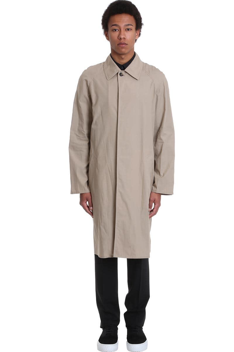 Kenzo Outerwear In Taupe Cotton
