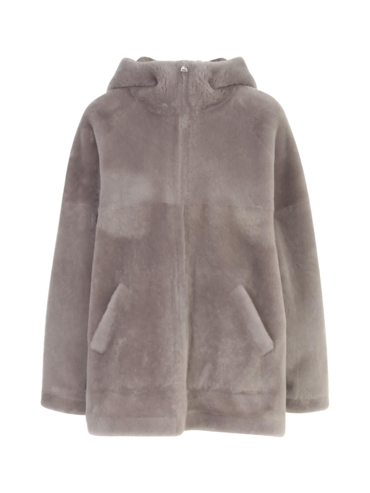 Merino Straight Hooded Sweatshirt W/zip