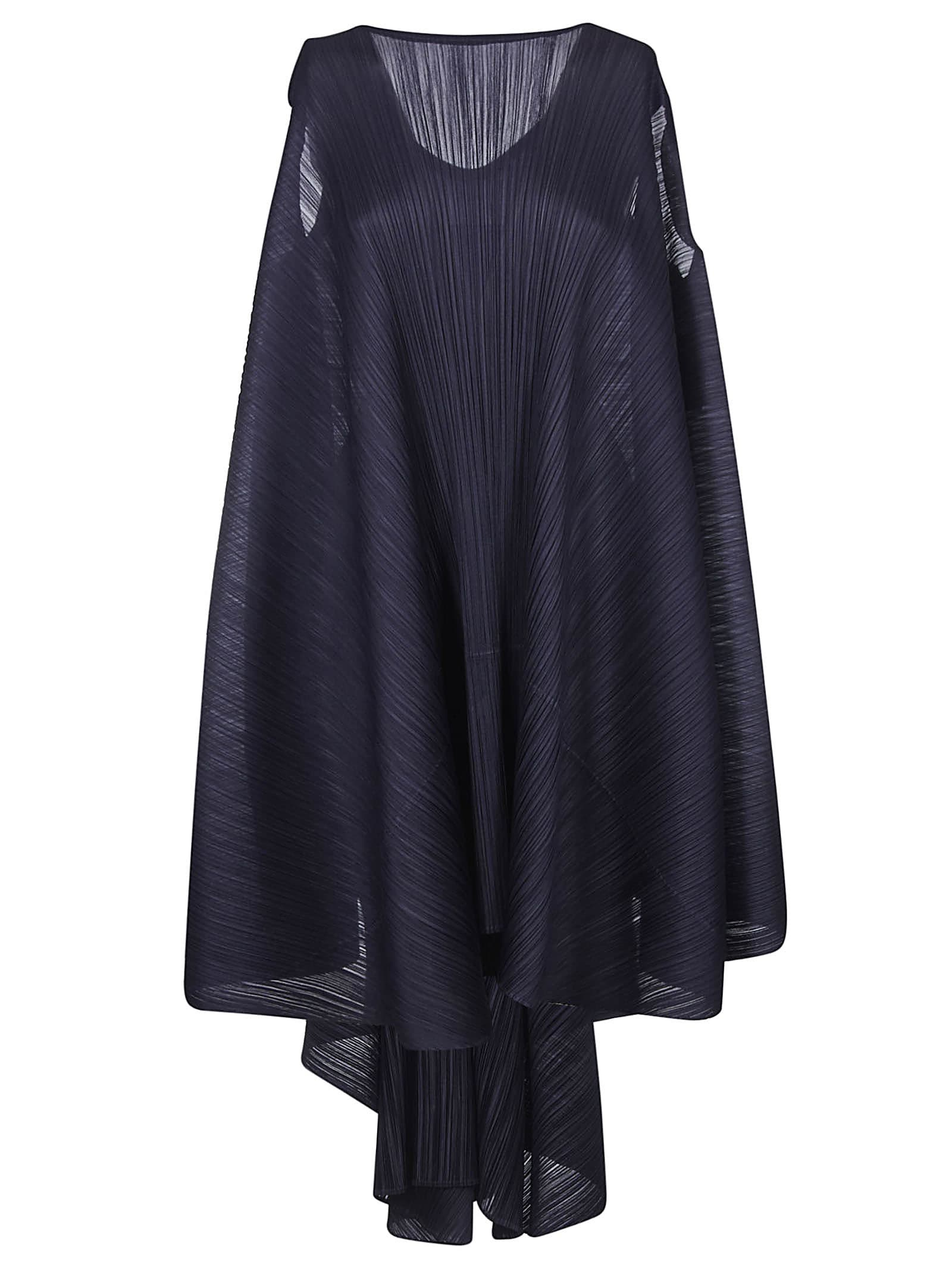 Pleats Please Issey Miyake Wide Sleeveless Pleated Dress