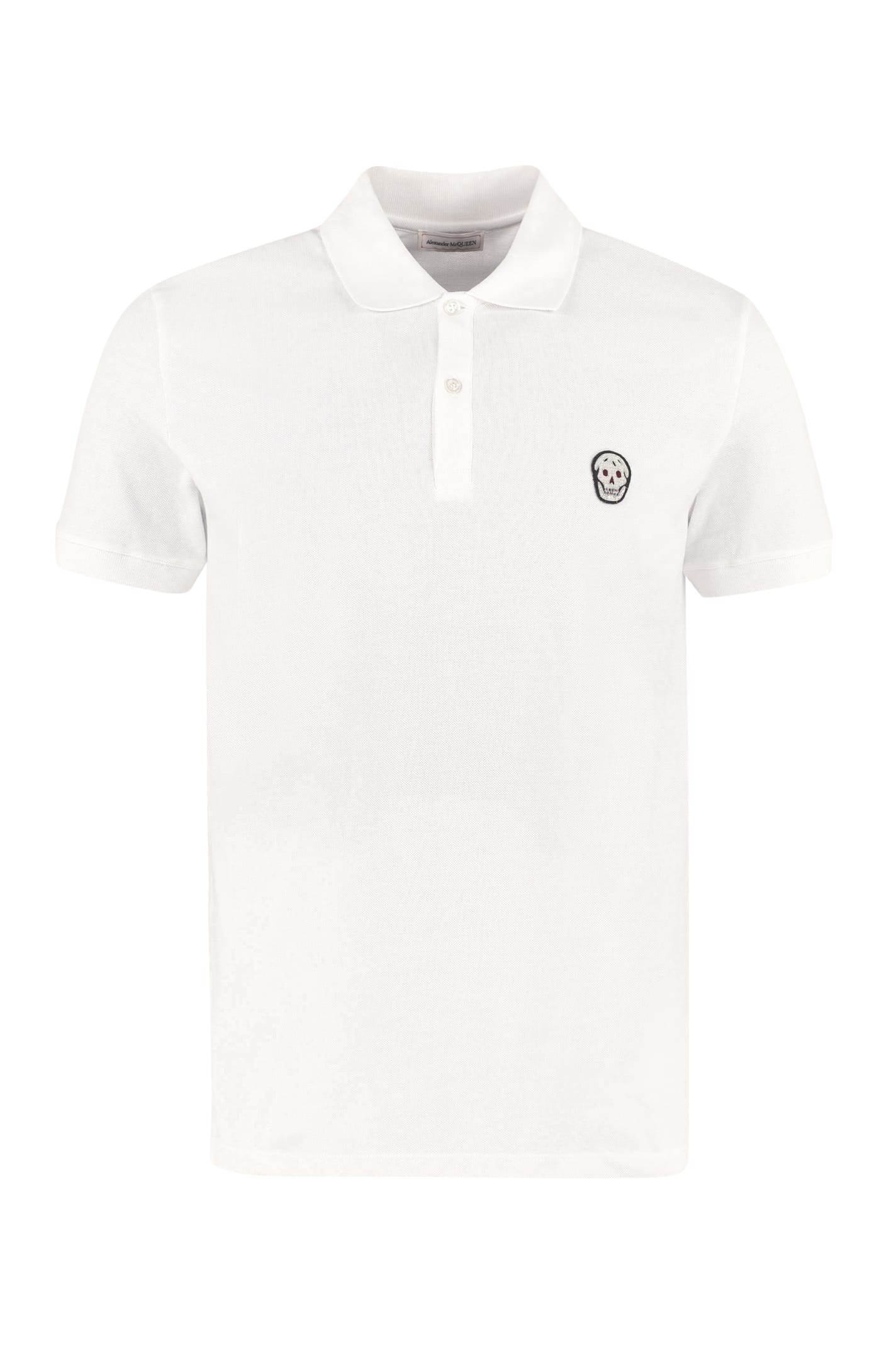 Alexander Mcqueen Cotton-piqué Polo Shirt In Black