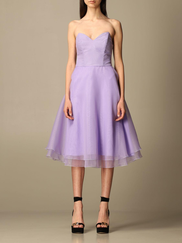Elisabetta Franchi Dress Elisabetta Franchi Midi Dress In Organza