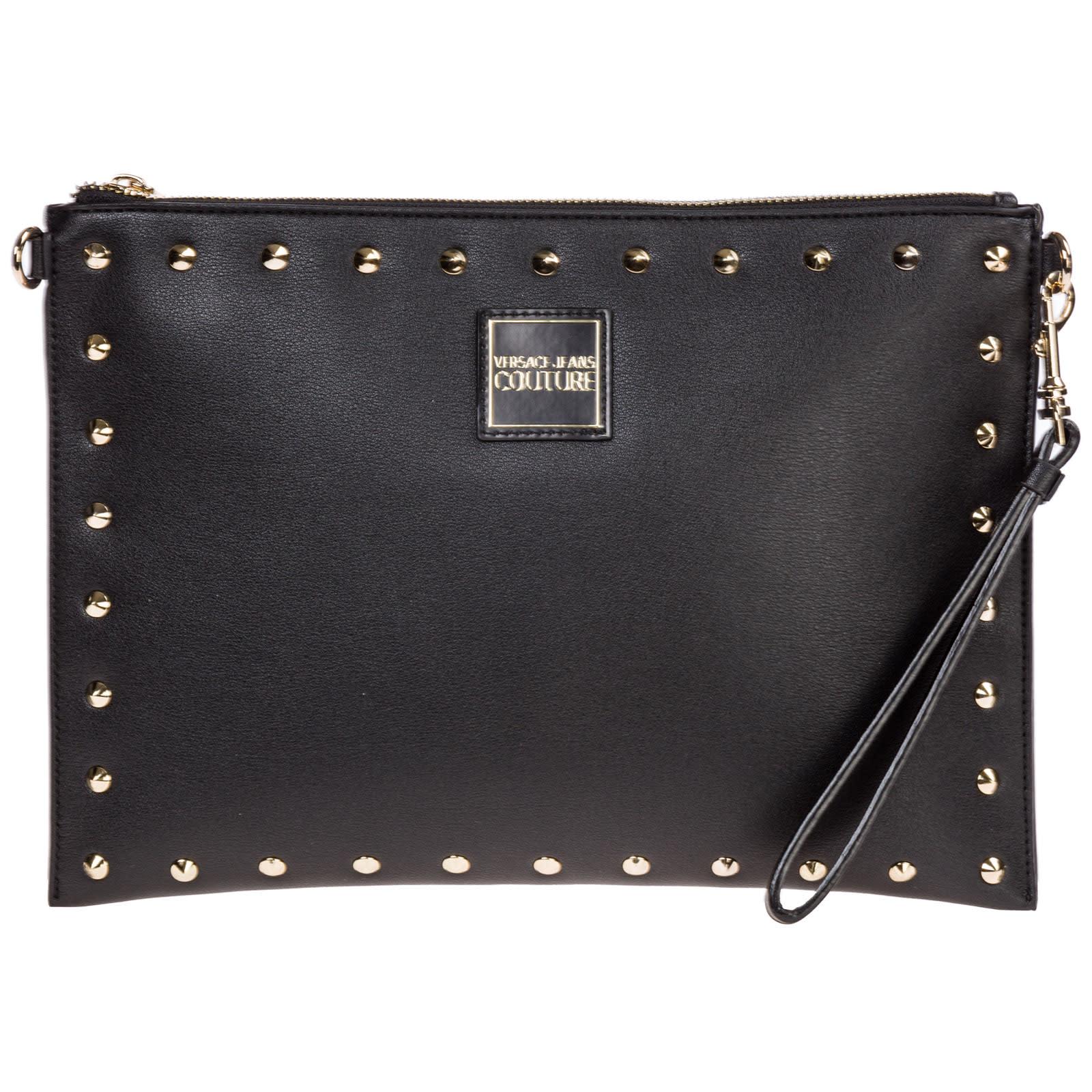 1356dd77 Versace Jeans Couture Clutch With Shoulder Strap Handbag Bag Purse