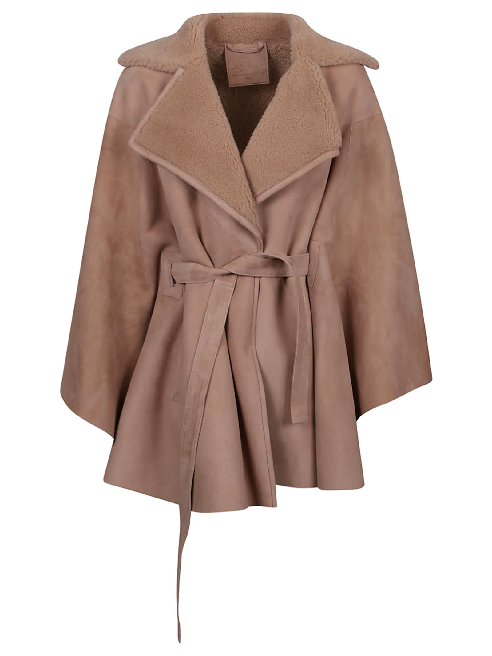 1972 Curly Suede Belted Coat