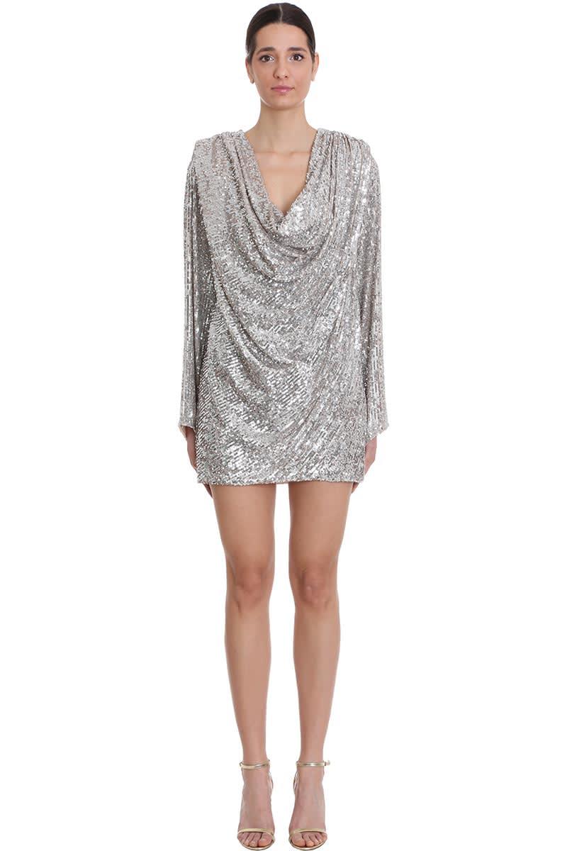 Buy Nervi Carol Dress In Platinum Polyamide online, shop Nervi with free shipping