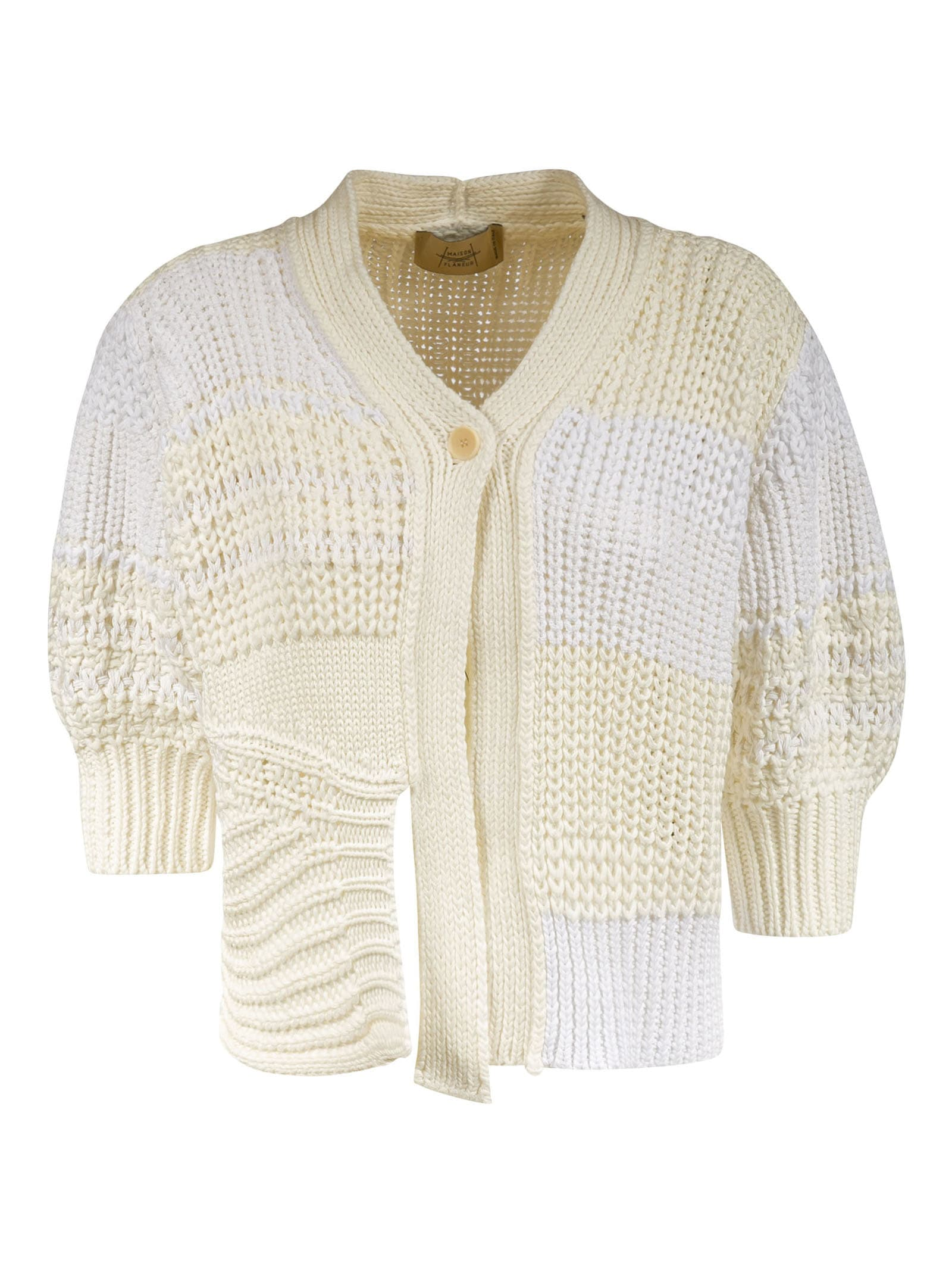Single-button Knitted Cropped Cardigan