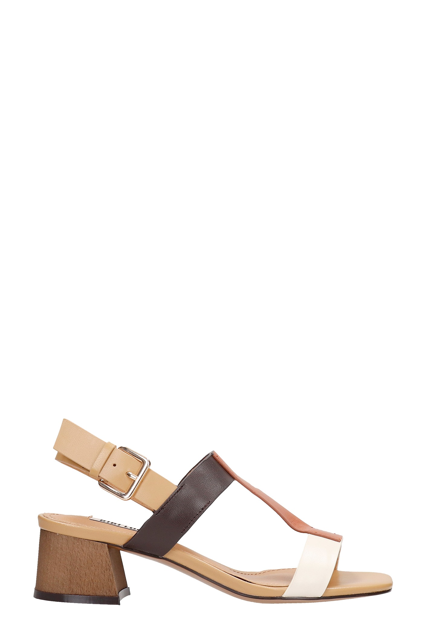 Sandals In Beige Leather