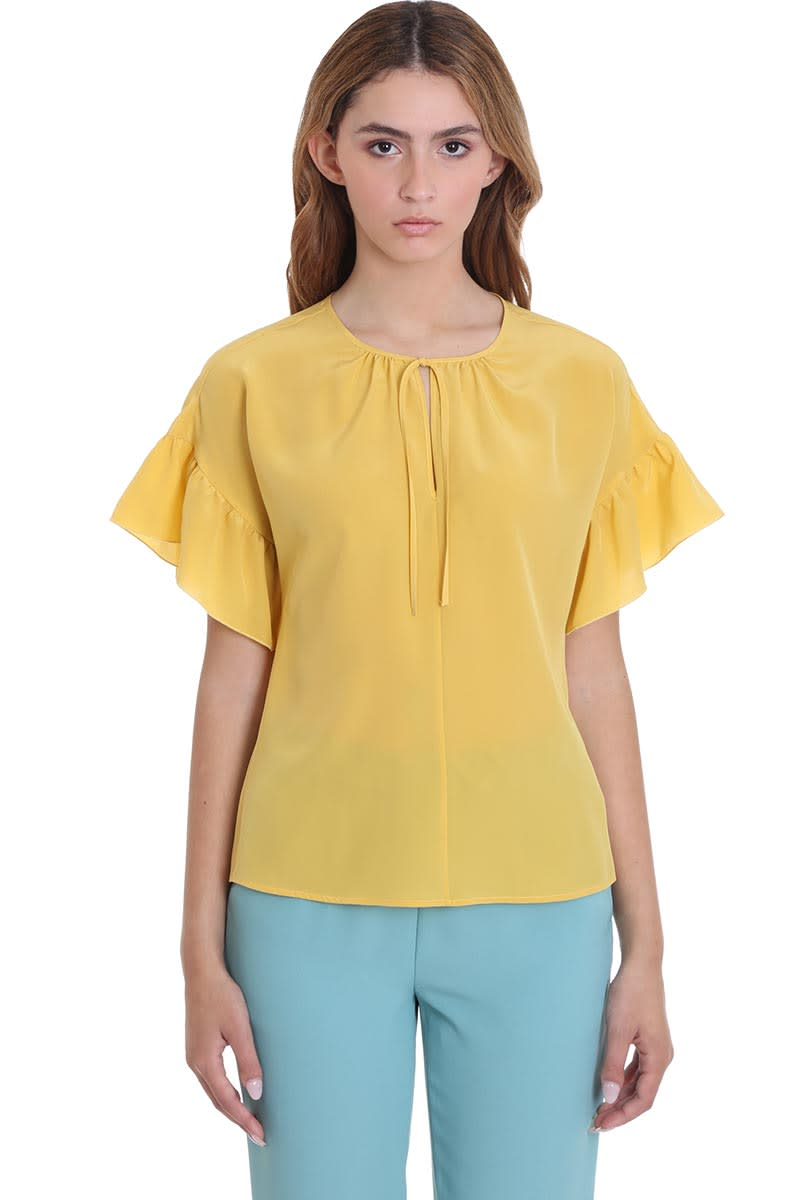 RED Valentino Blouse In Yellow Silk