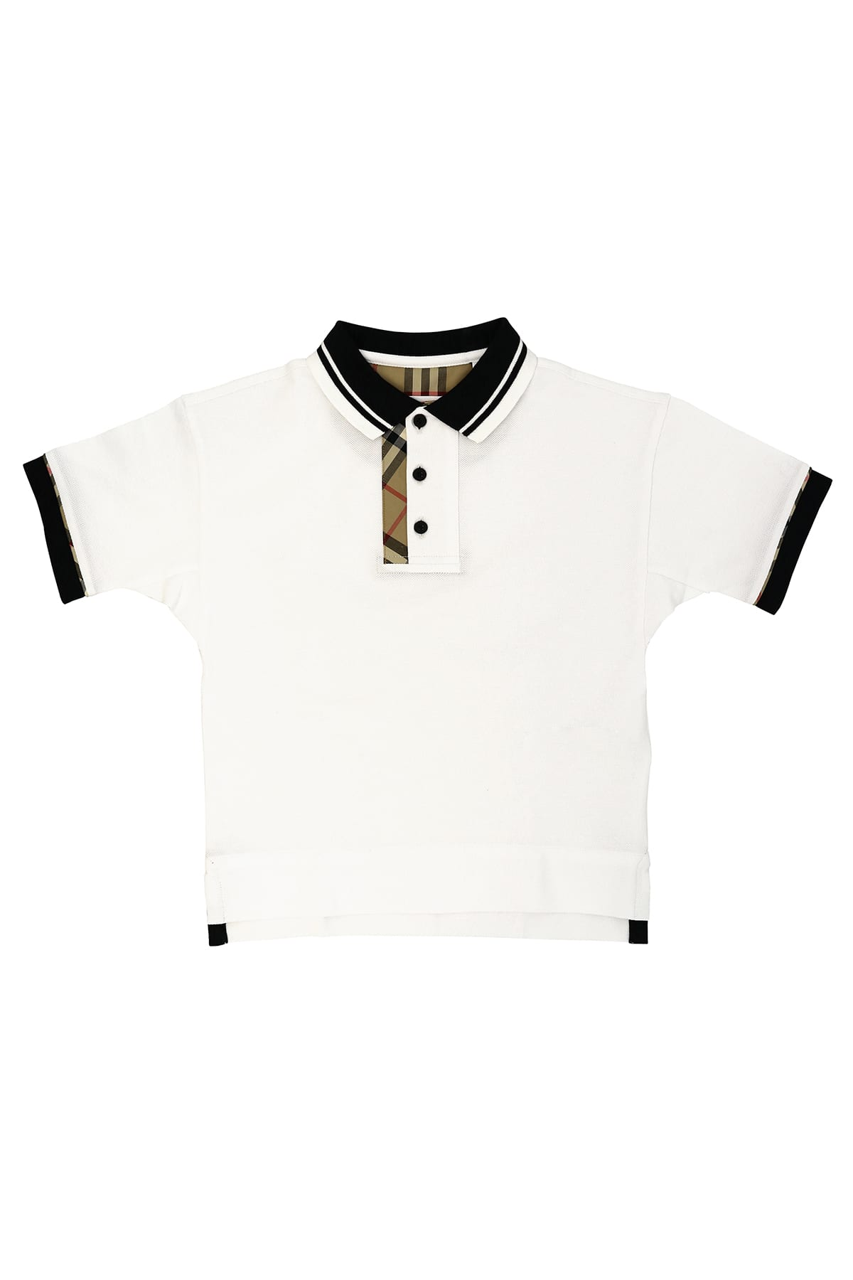 Burberry Kids' Vintage Check Polo T-shirt In White