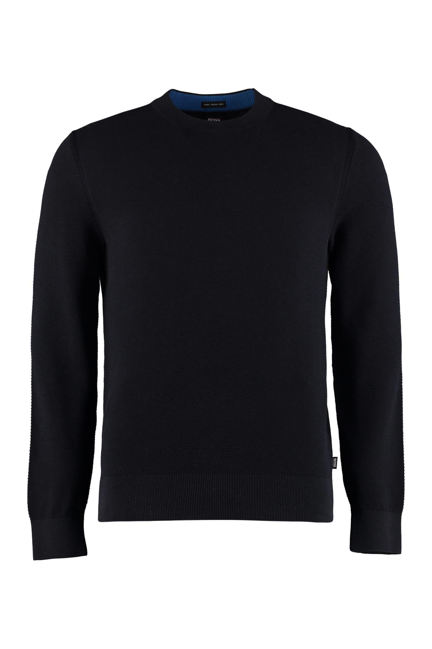 Hugo Boss Cotton Crew-neck Sweater