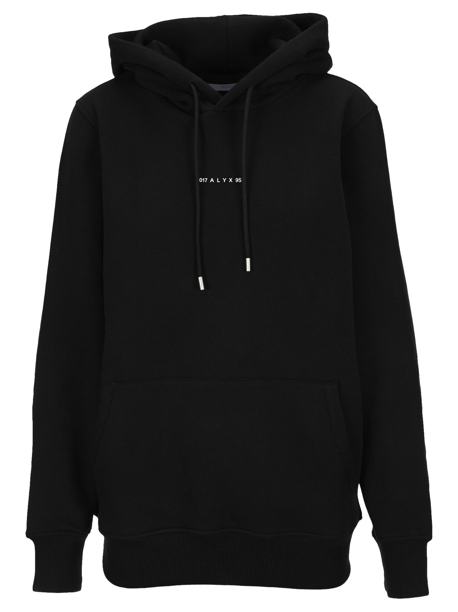 Alyx Logo Hooded Tee In Black