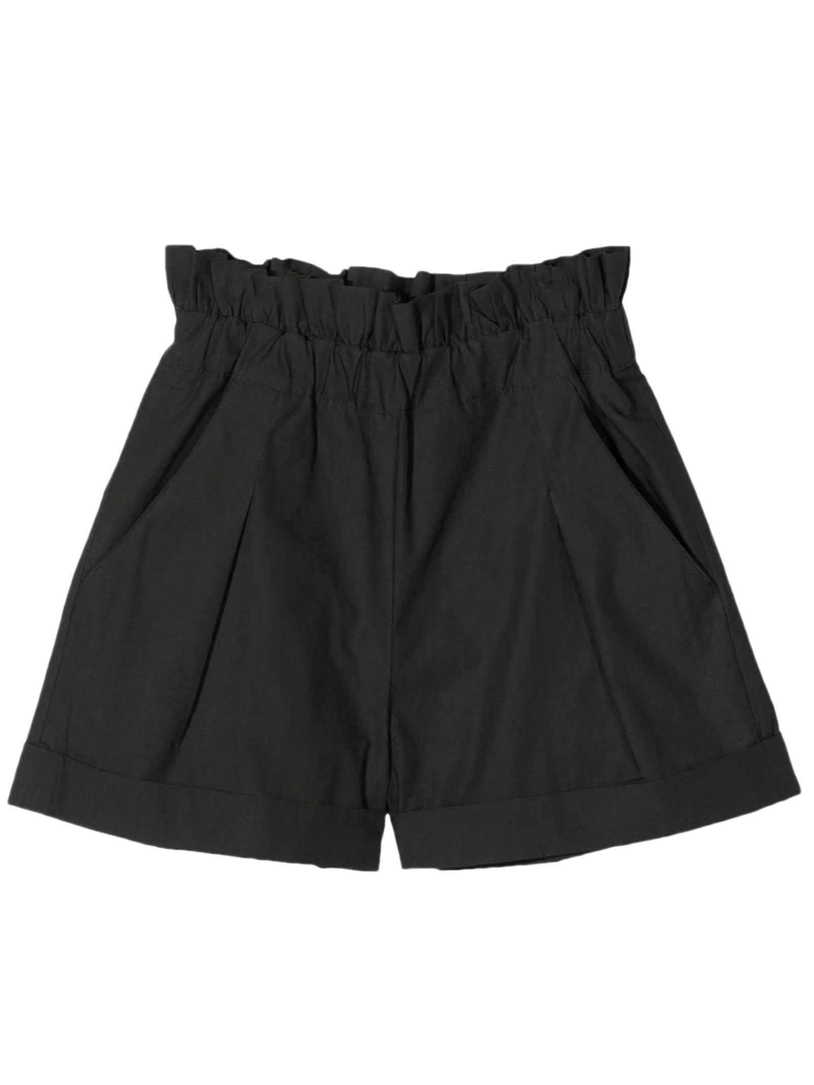 Dark Grey Cotton Shorts