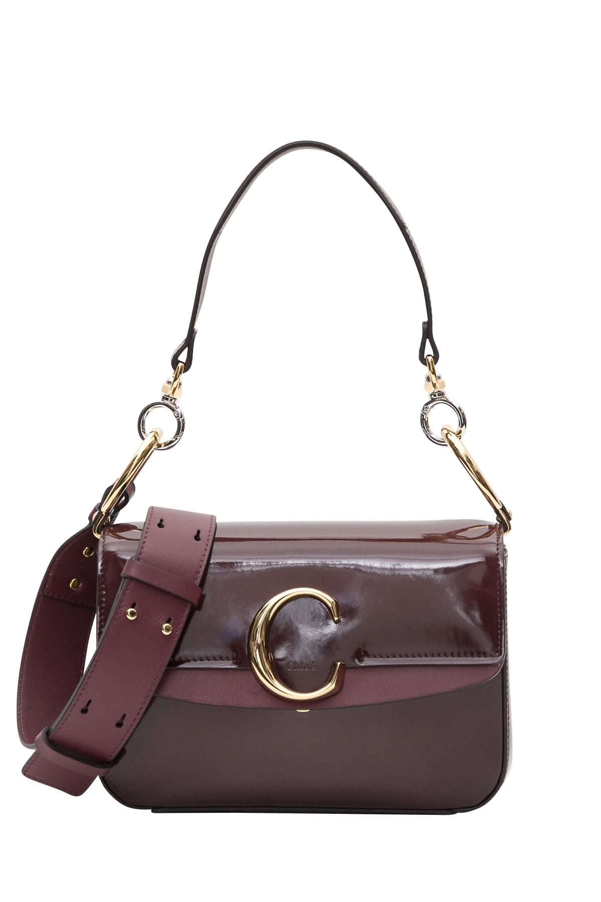63c3d7dd30 Chloé Small Chloé C Double Carry Bag