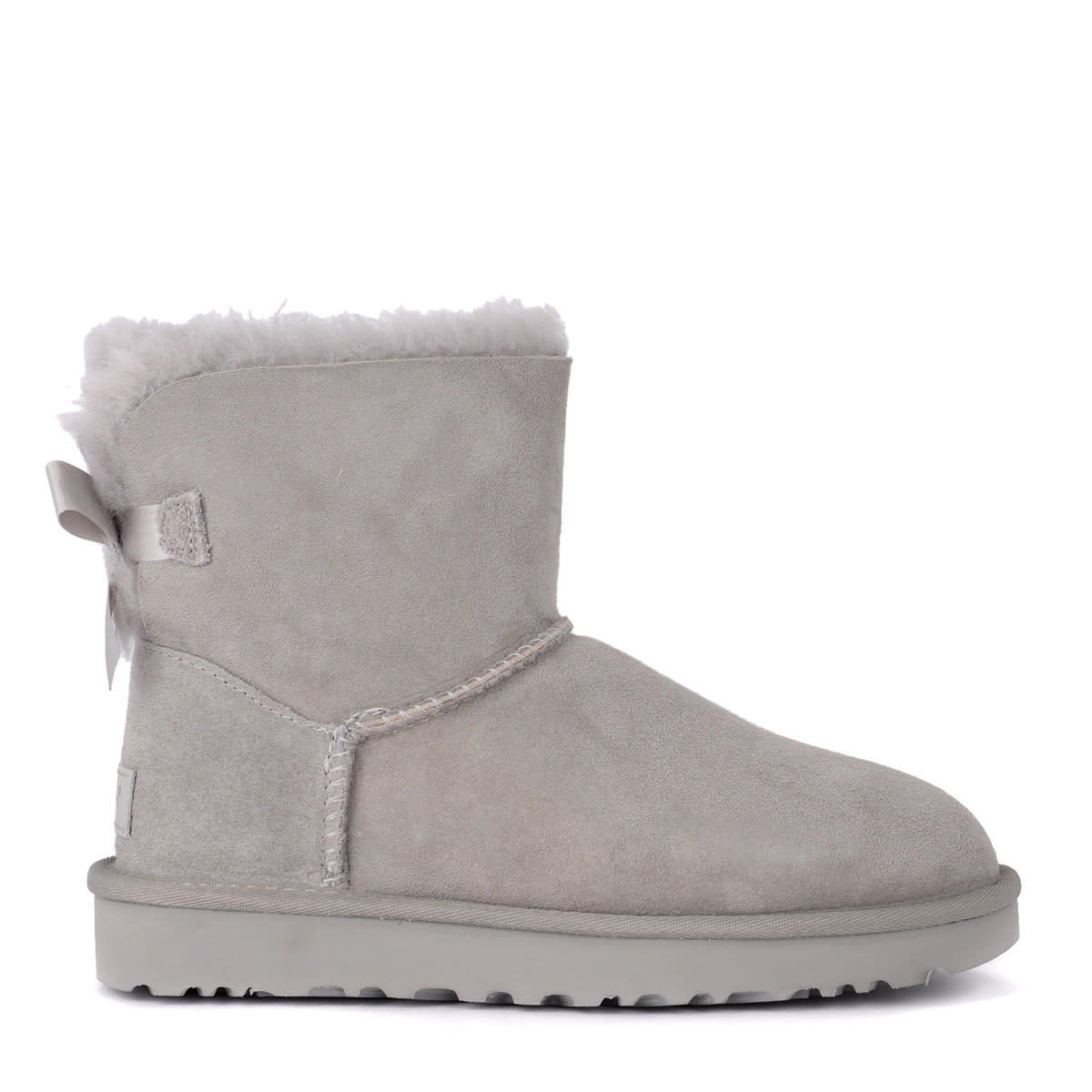 37814c53739 Ugg Bailey Mini Grey Suede Ankle Boots With Bow.