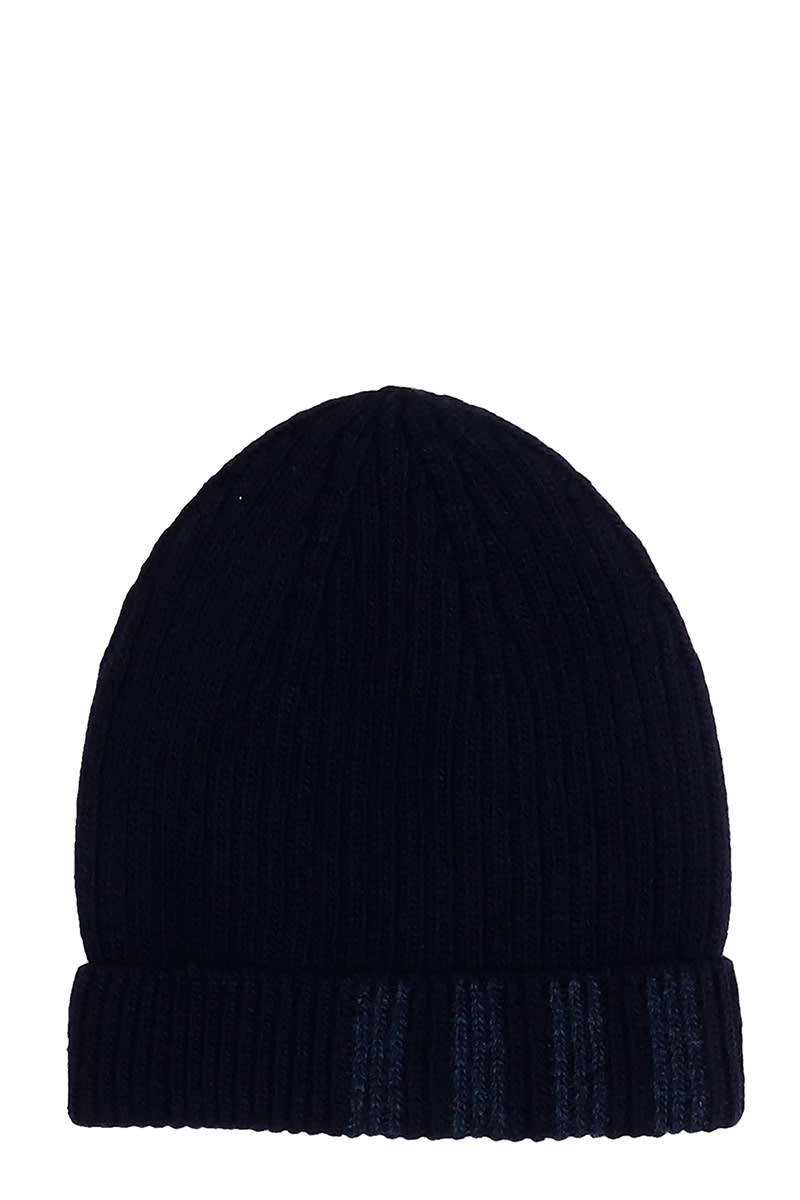 THOM BROWNE HATS IN BLUE WOOL