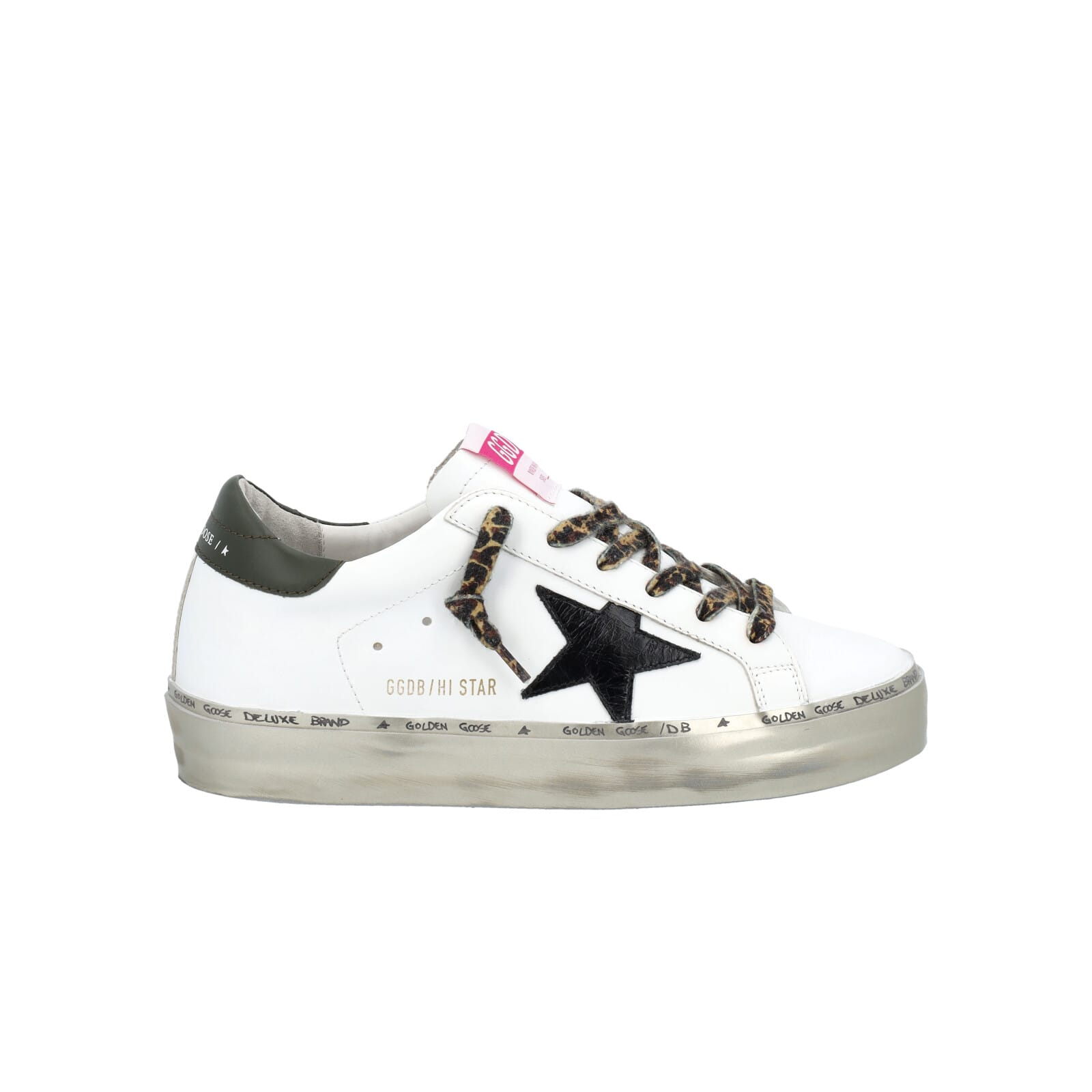Golden Goose Hi Star Sneakers With Leopard-print Laces