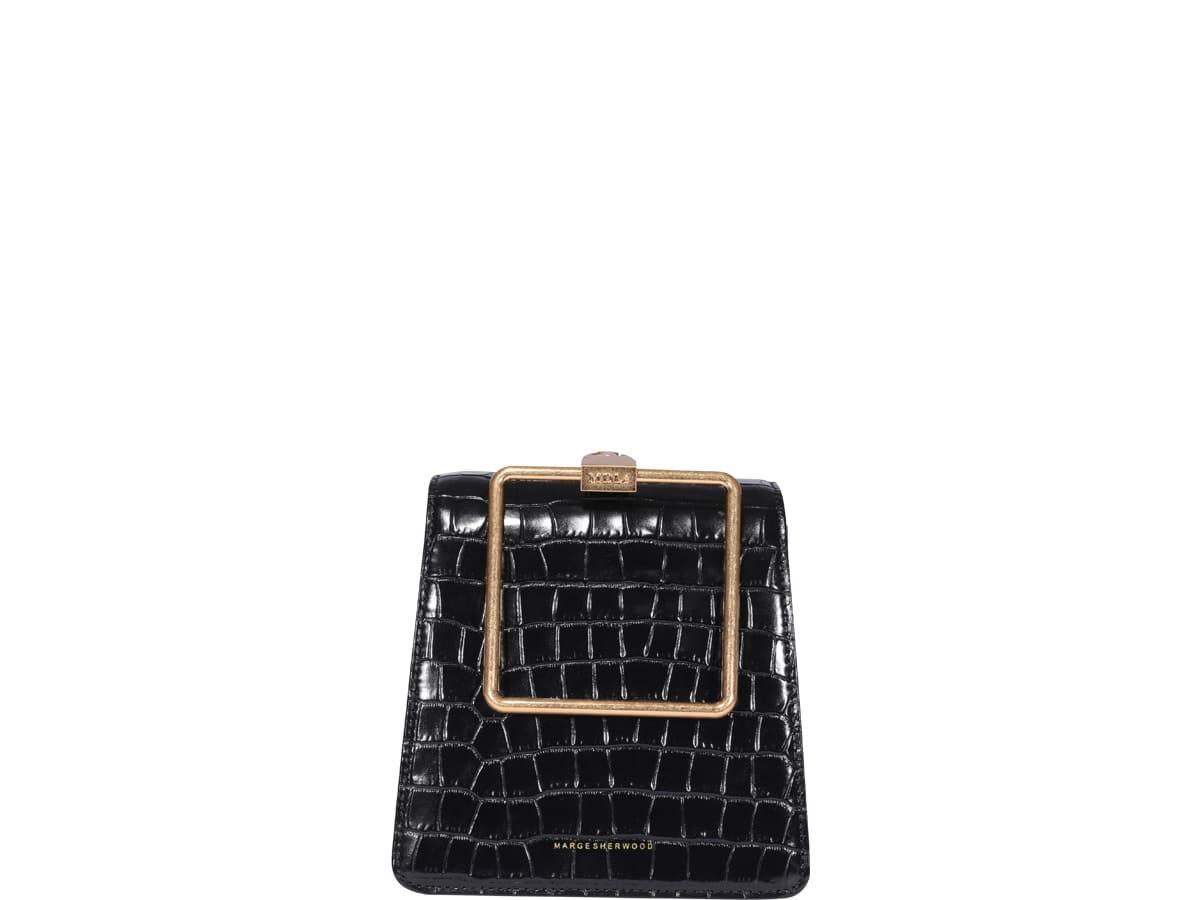 Marge Sherwood Pump Handle Bag In Black