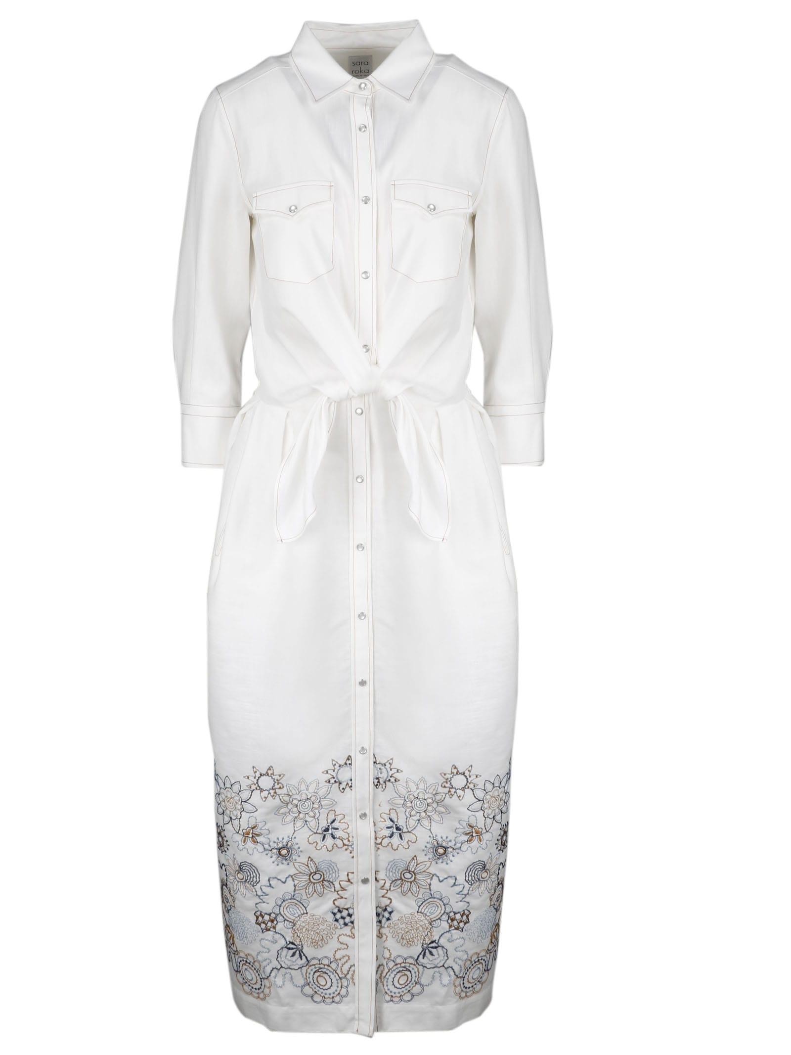 Buy Sara Roka Giedre Midi Dress online, shop Sara Roka with free shipping