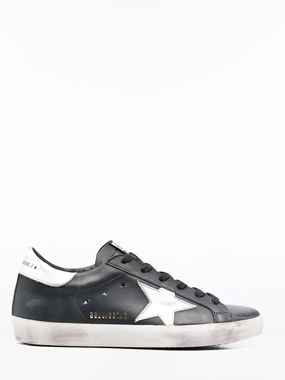 Golden Goose Black Super-star Sneakers