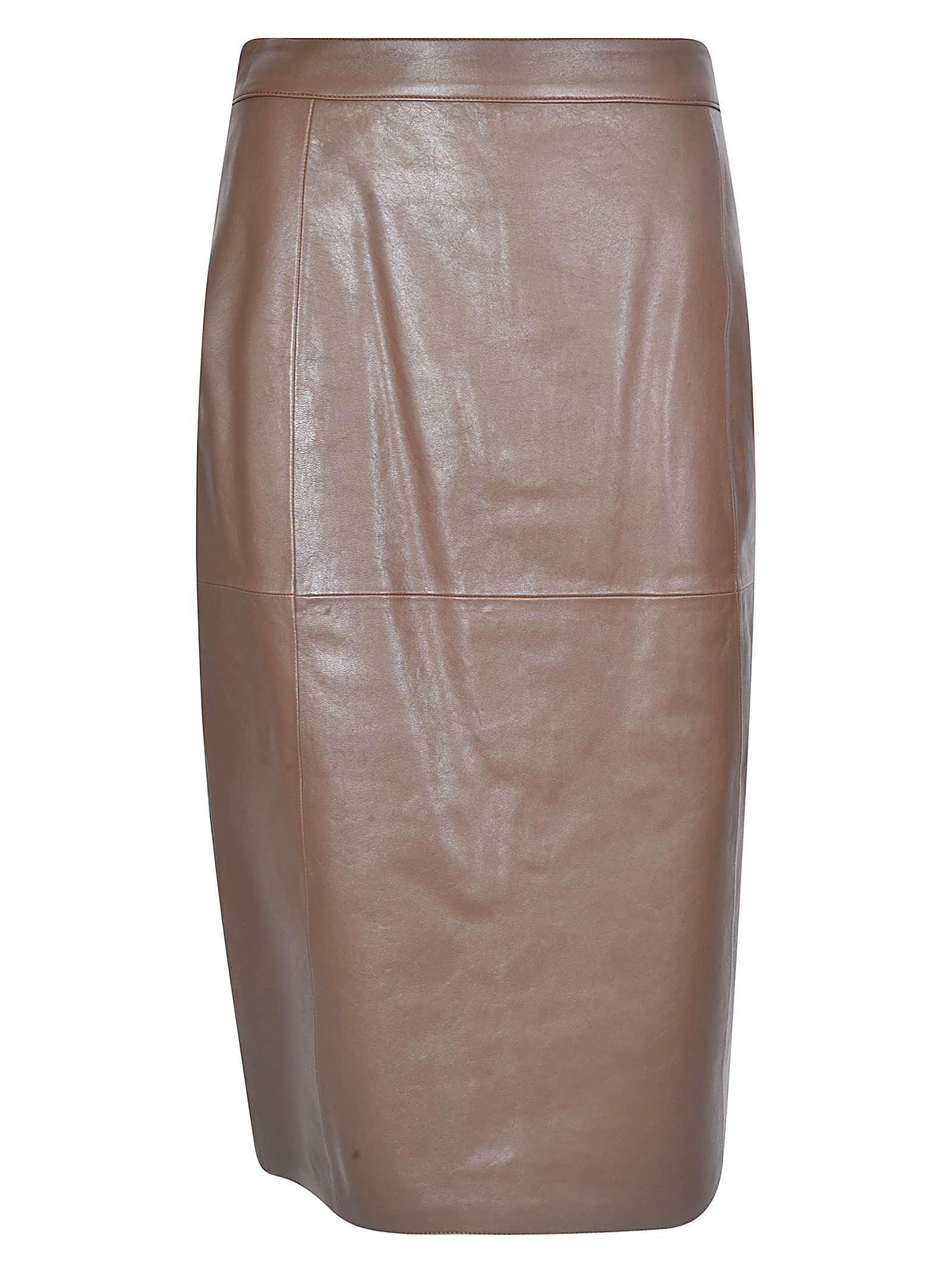 1972 Vegetal Nappa Leather Skirt