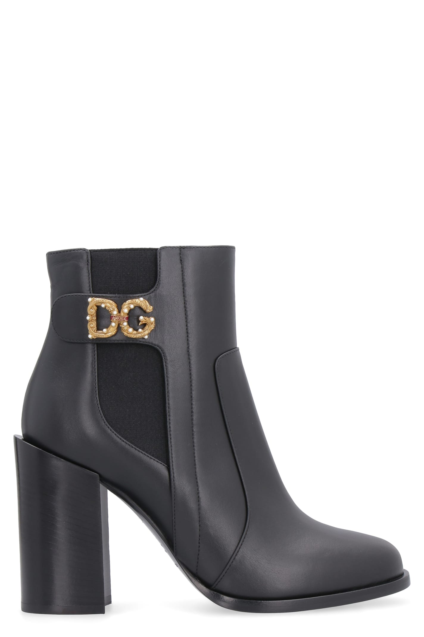 Buy Dolce & Gabbana Rodeo Leather Ankle Boots online, shop Dolce & Gabbana shoes with free shipping
