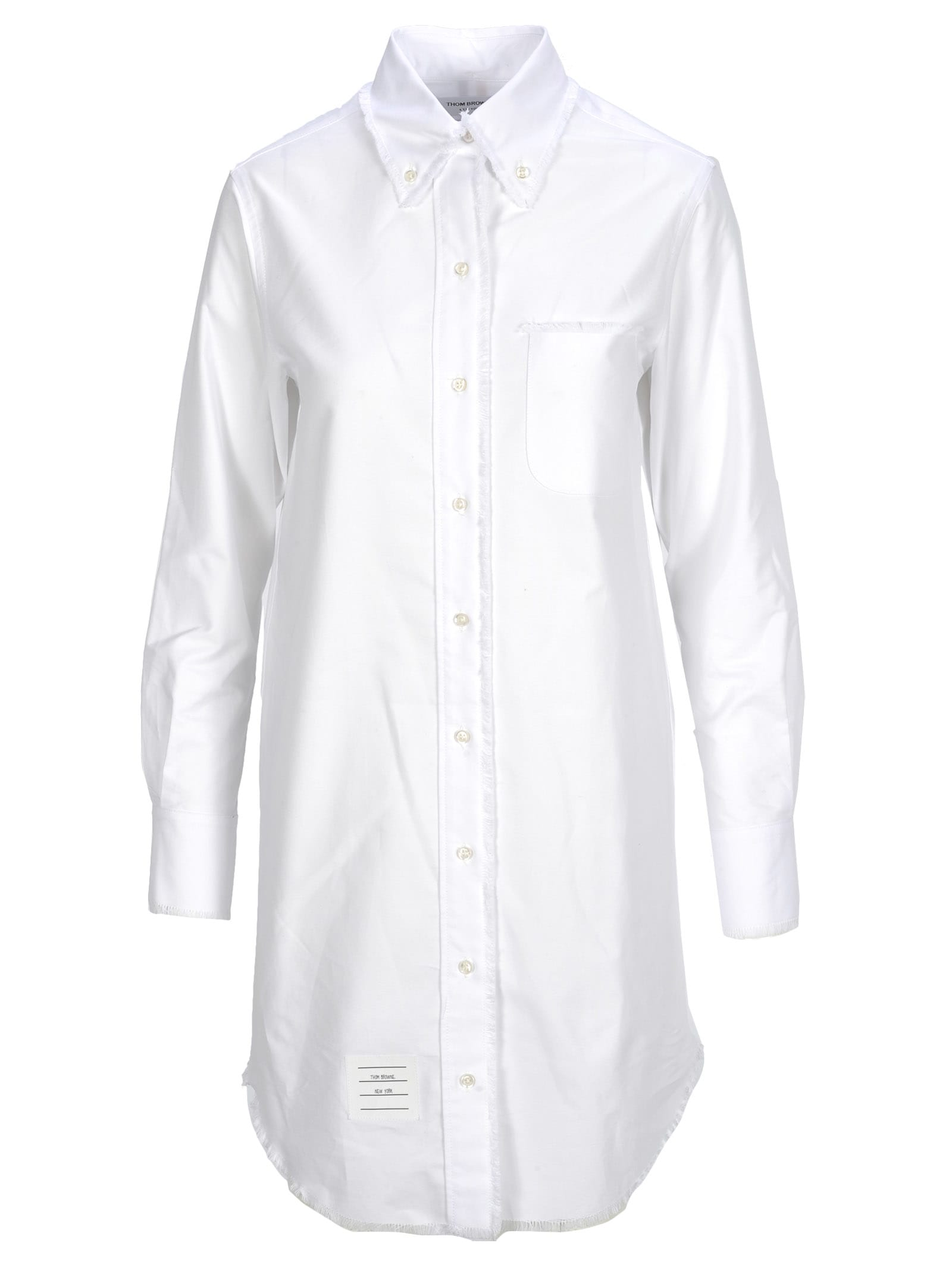 Thom Browne Thom Browne Frayed Oxford Shirt Dress