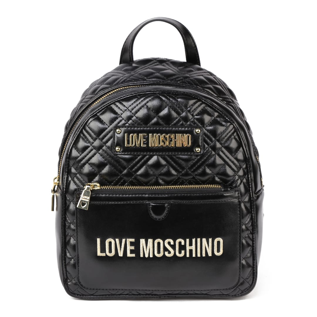 Love Moschino Black Love Moschino Quilted Backpack