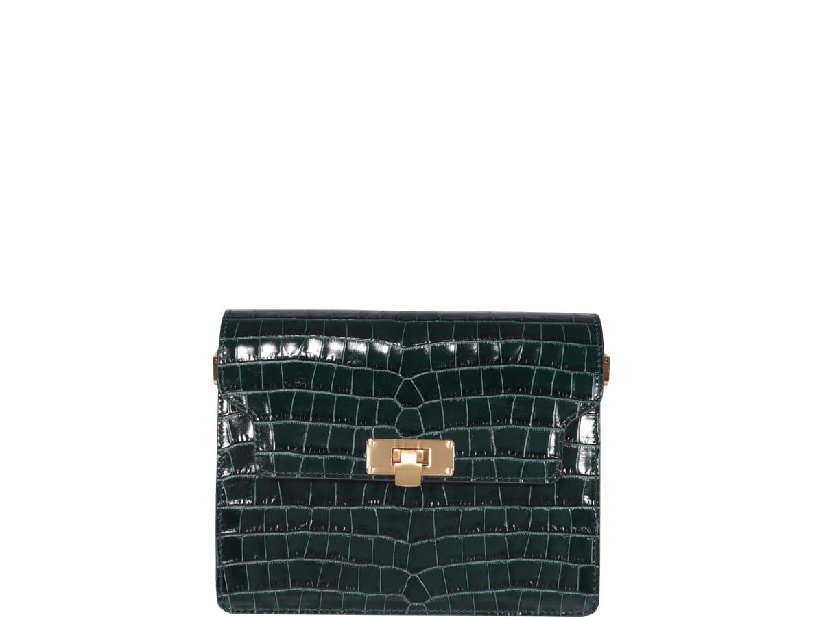 Marge Sherwood Vintage Brick Bag In Green