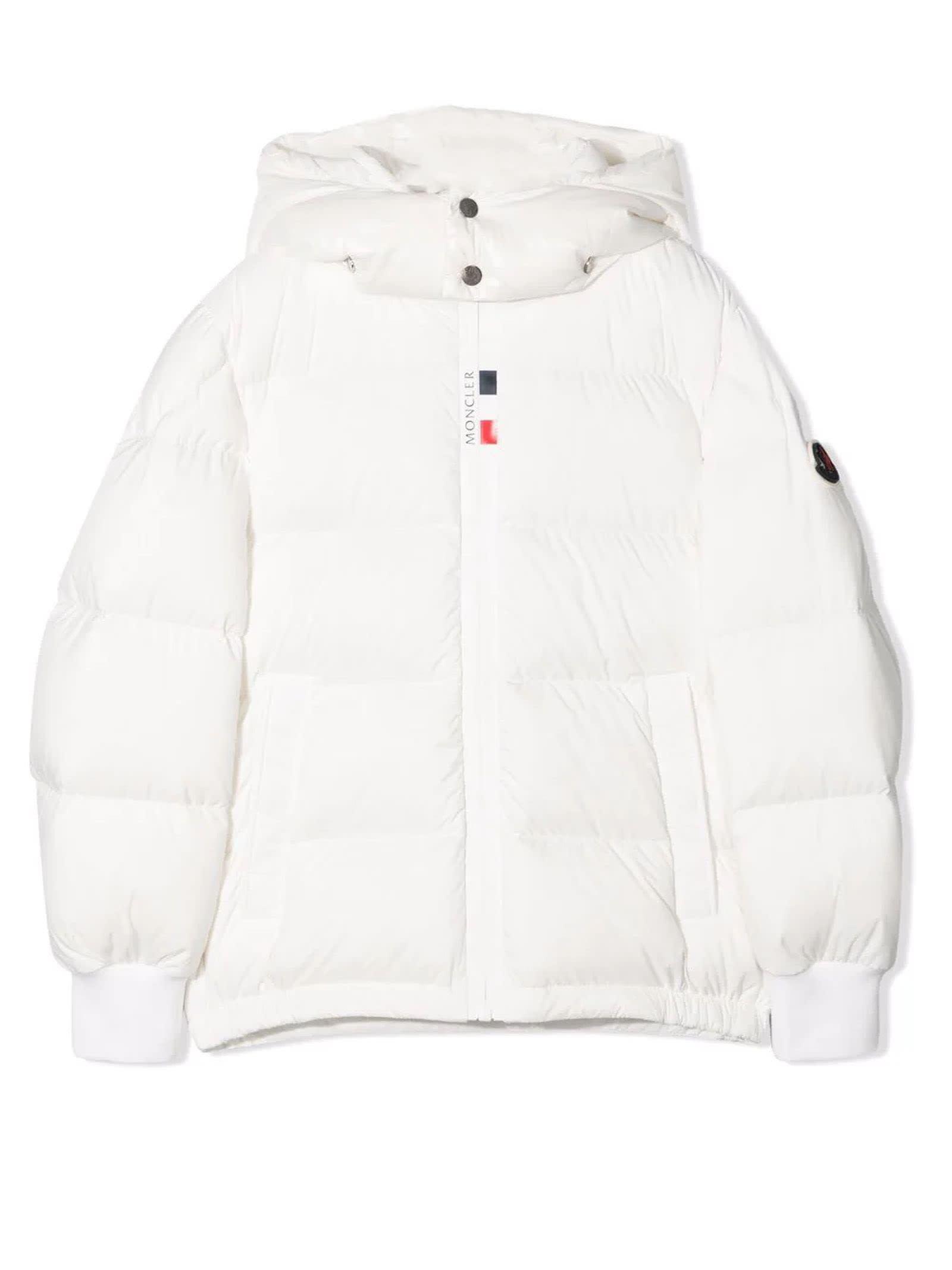 Moncler White Hale Padded Jacket