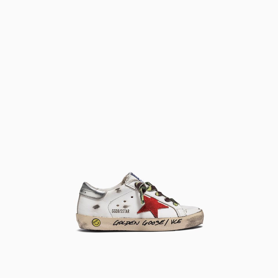 Golden Goose Suedes DELUXE BRAND SUPER STAR LAMINATED SNEAKERS GJF00101. F001157