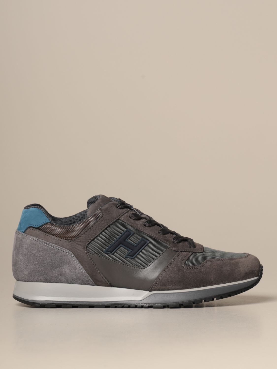 Hogan Sneakers H321 Hogan Suede And Micro Mesh Sneakers With H 3d Flock