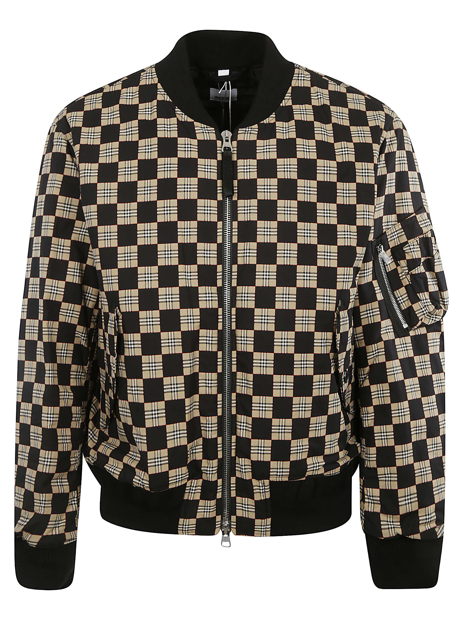 Burberry Cottons CHECK PRINT BOMBER