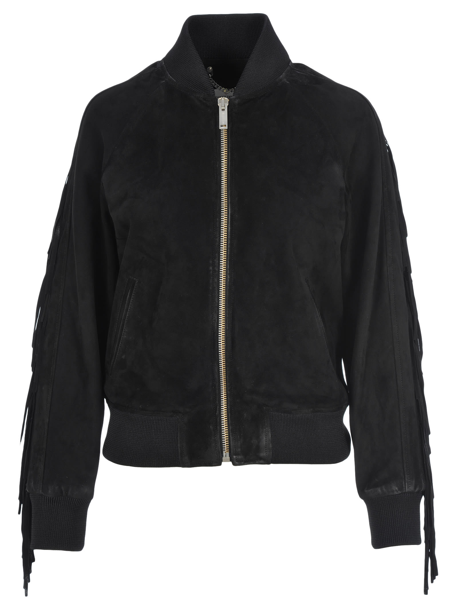 Golden Goose Akiko Leather Bomber Jacket