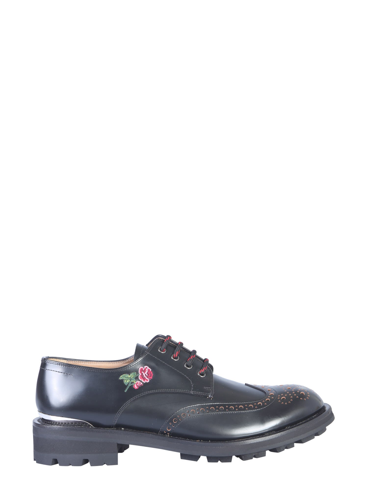 Alexander McQueen Embroidered Lace-up
