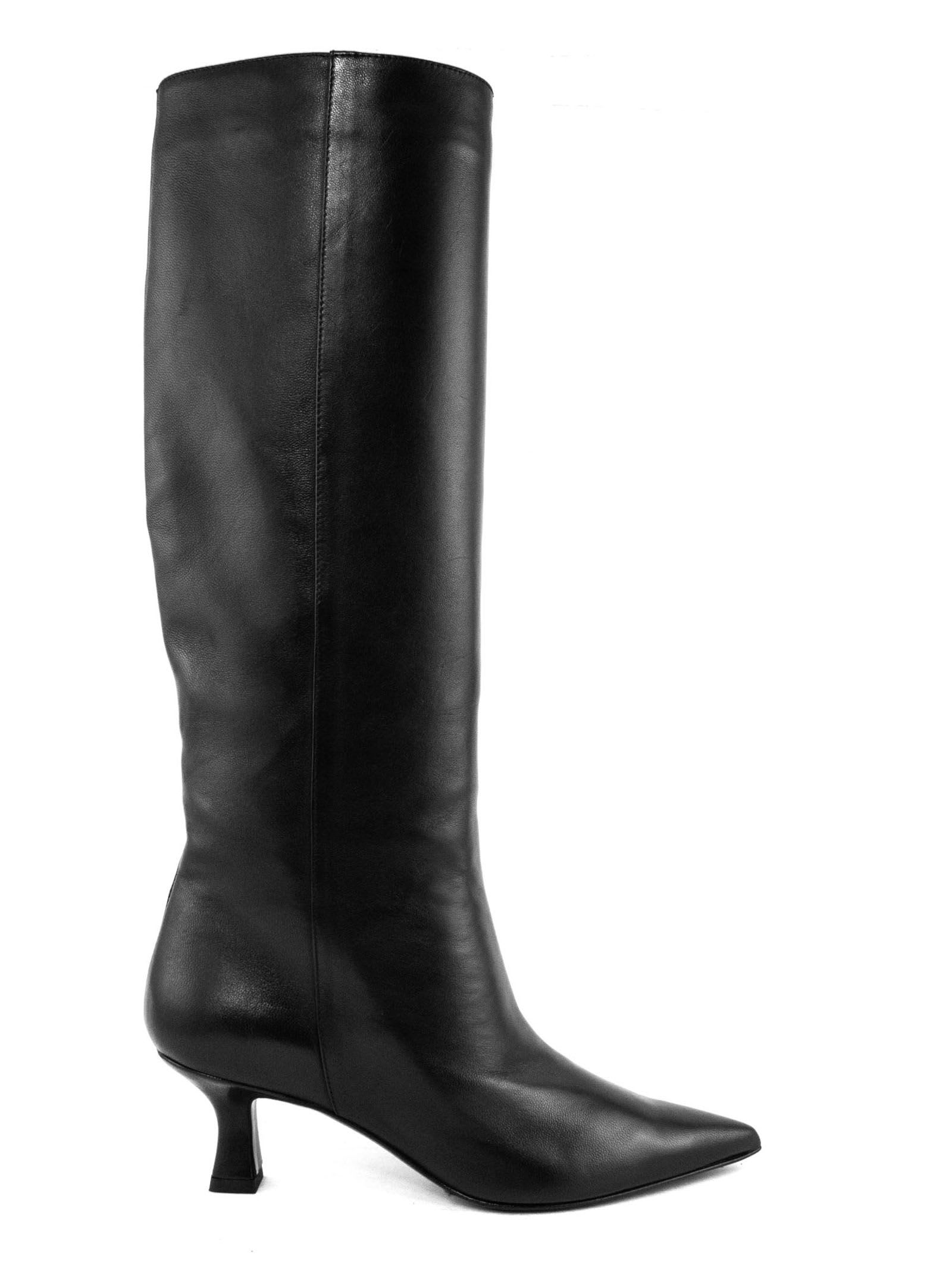Dorotea High Boot In Black Leather