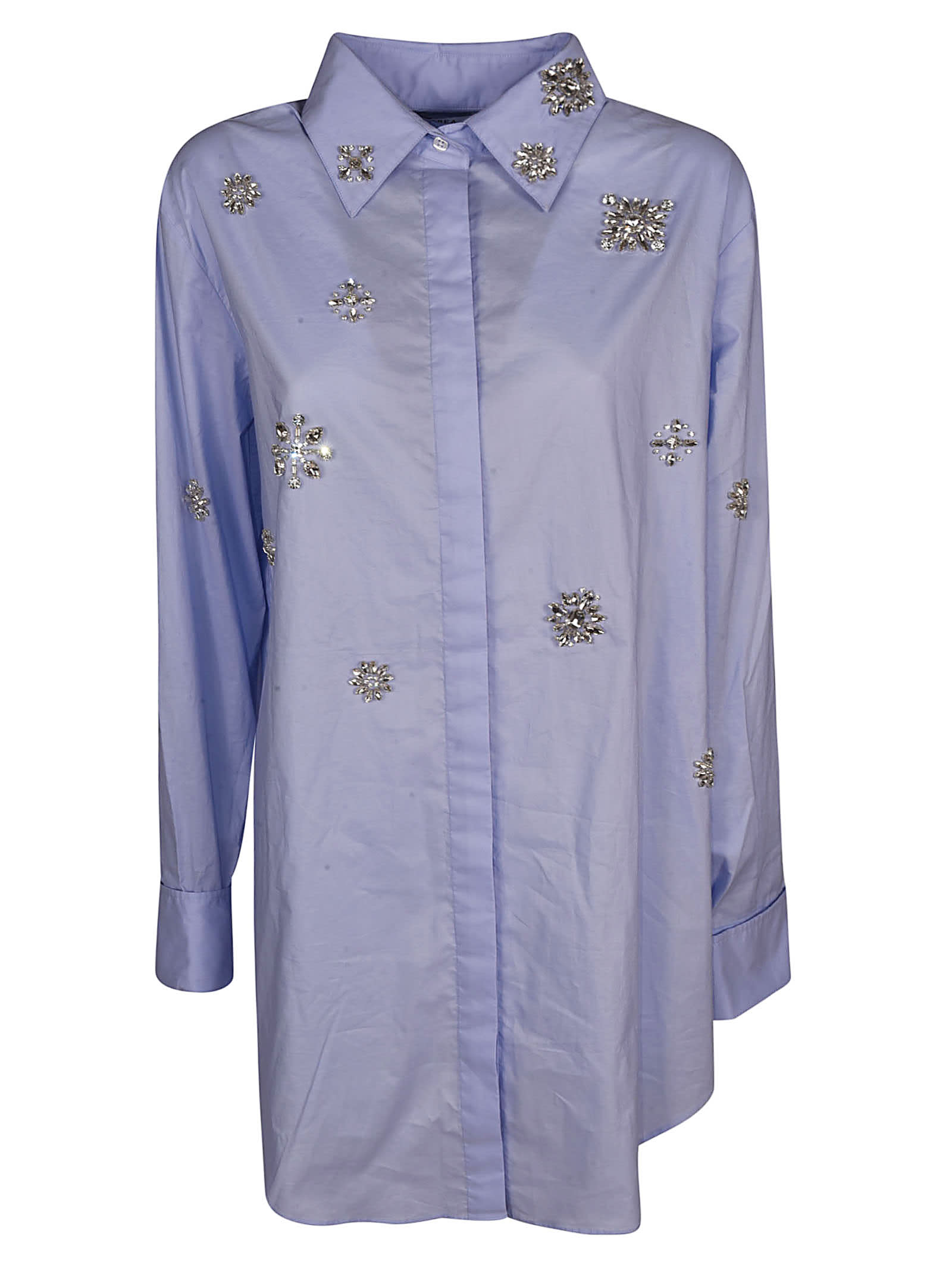 AREA Embellished Shirt Dress