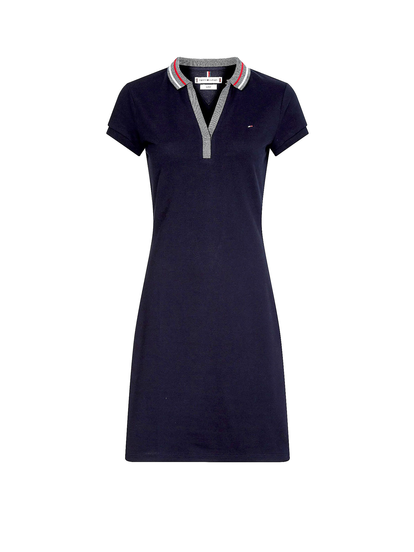 Buy Tommy Hilfiger Dress In Blue Cotton online, shop Tommy Hilfiger with free shipping