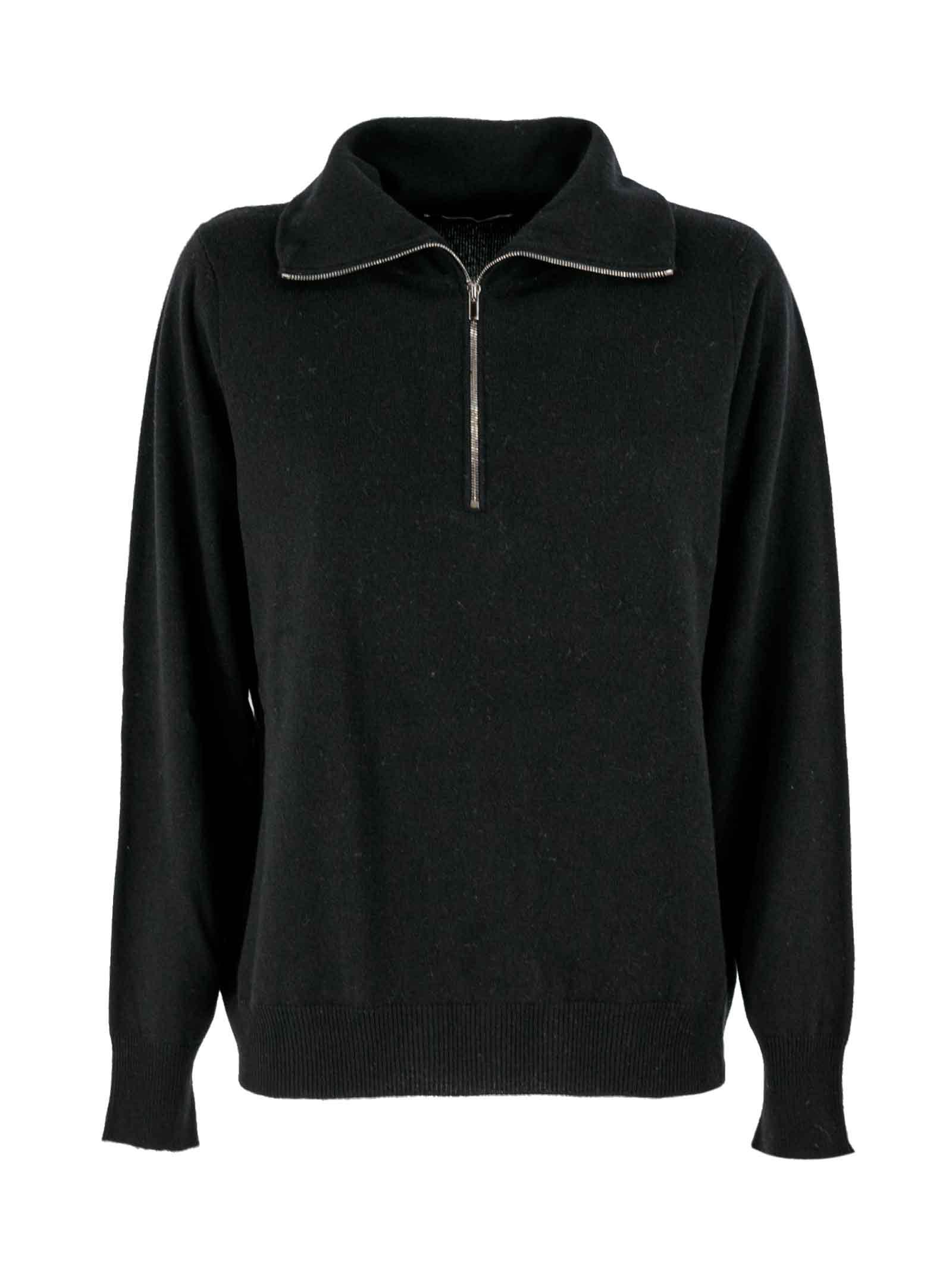 Hinged Neck Detailing Sweater