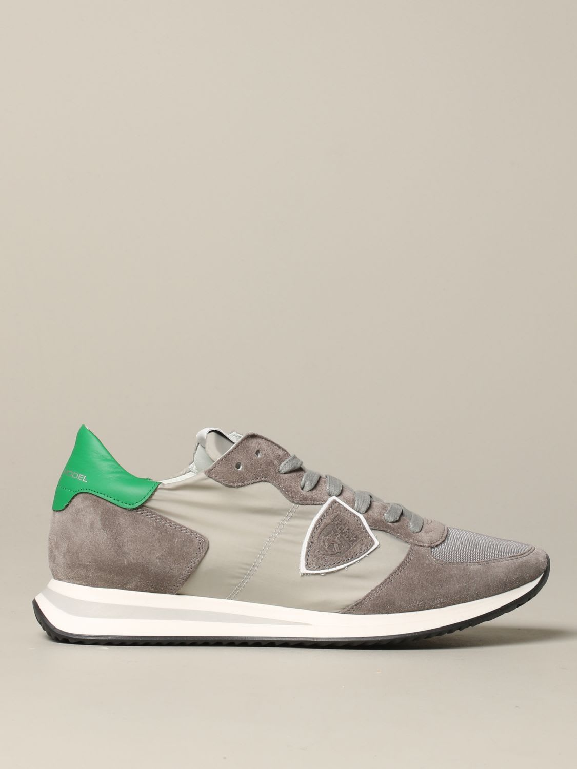 Philippe Model Sneakers Tropez Philippe Model Sneakers In Suede And Nylon