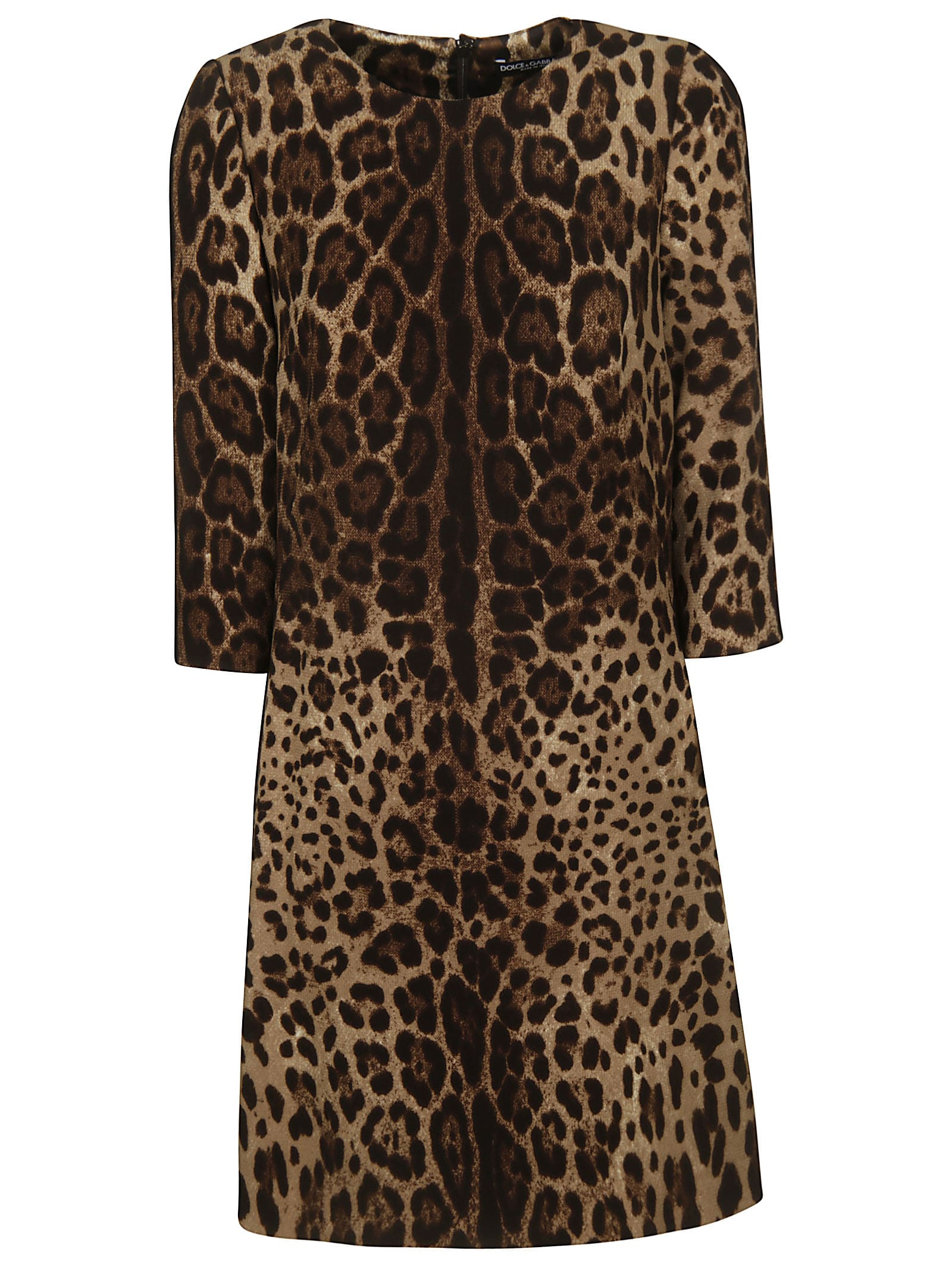 Dolce & Gabbana Leopard Midi Dress