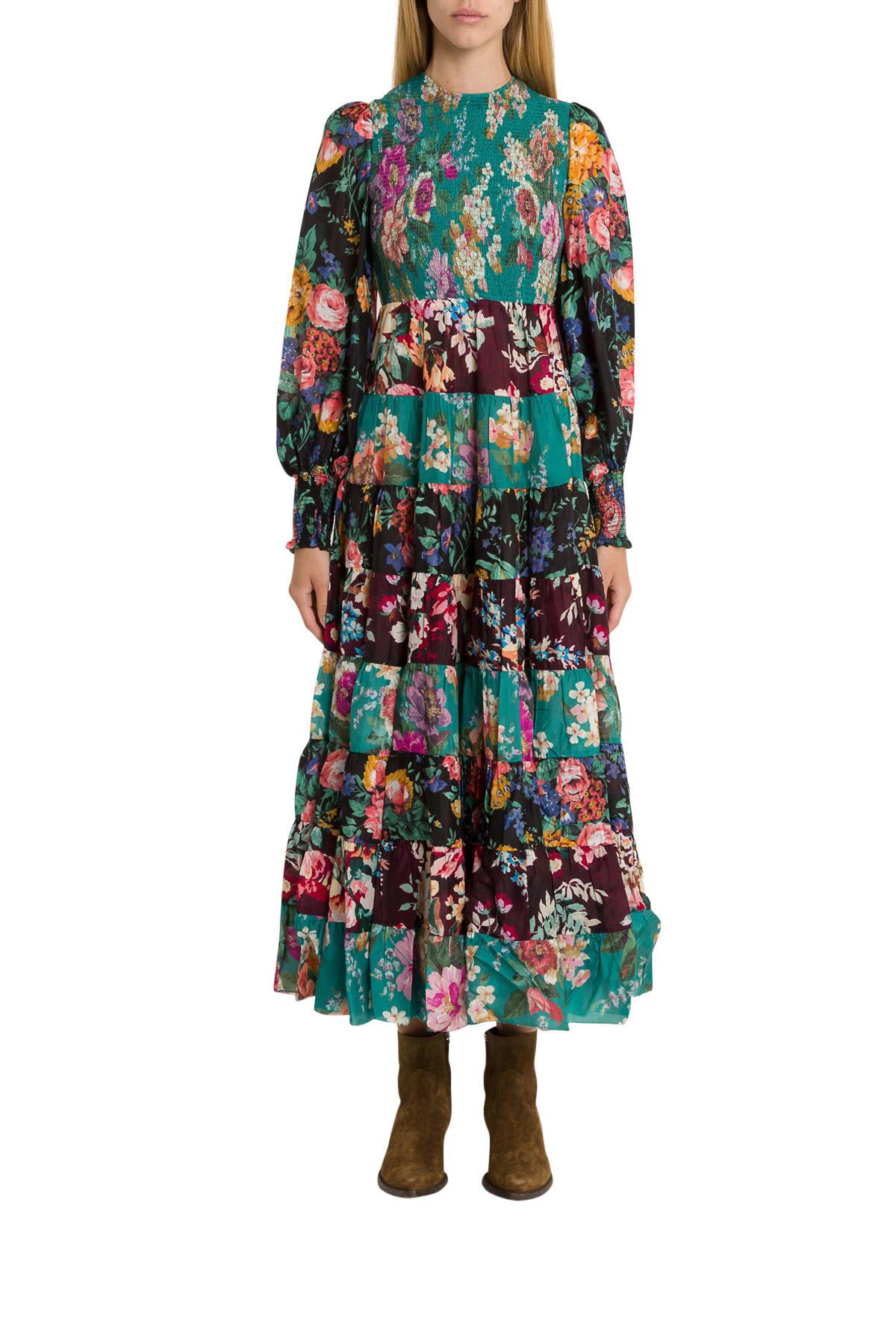 Zimmermann Allia Floral-print Silk-chiffon Maxi Dress