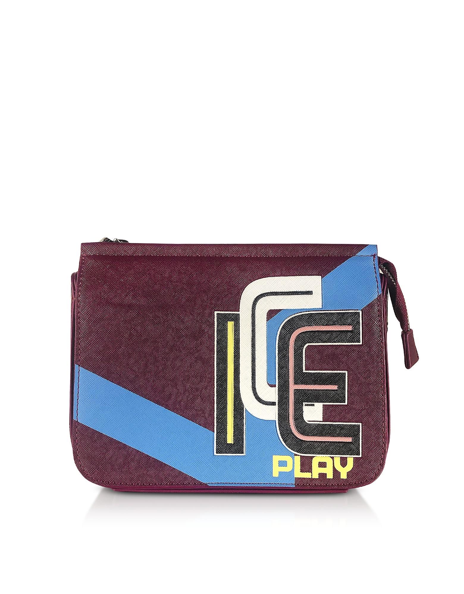 Ice Play Color Block Saffiano Eco Leather Camera Bag