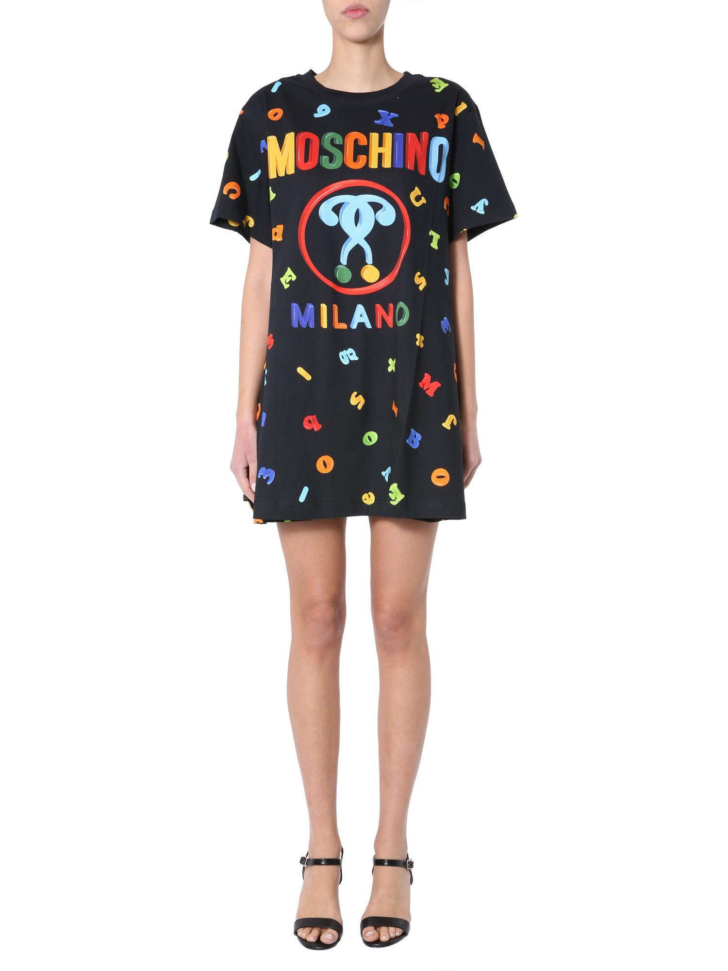 Buy Moschino Dress With Logo online, shop Moschino with free shipping