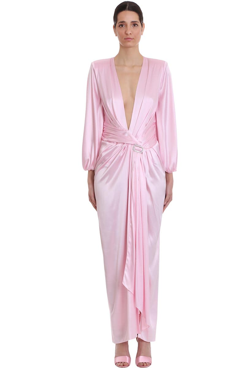 Buy Alexandre Vauthier Dress In Rose-pink Silk online, shop Alexandre Vauthier with free shipping