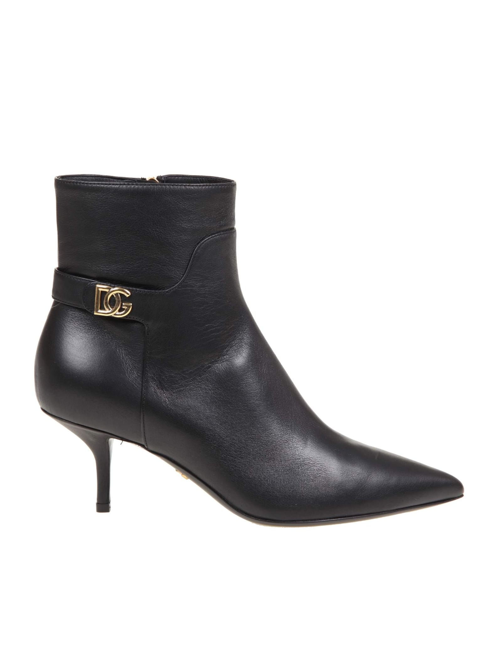 Dolce & Gabbana BOOTS IN LEATHER AND BLACK COLOR