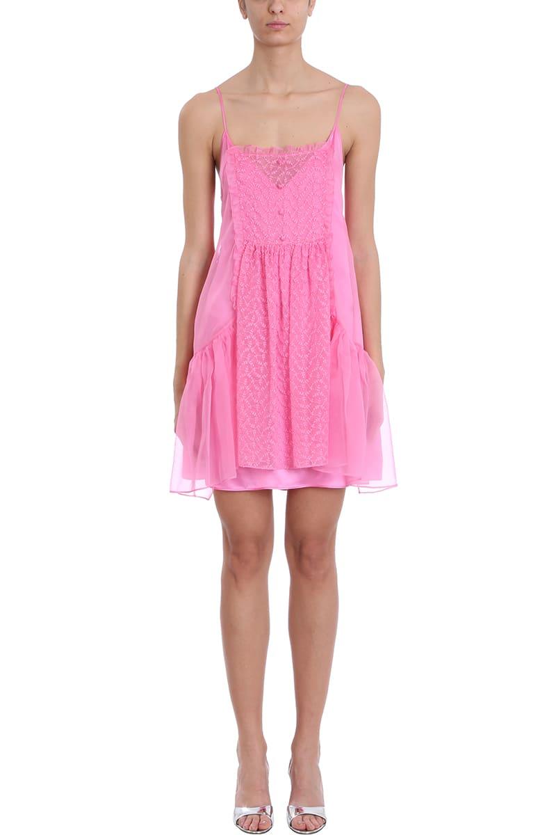 Stella McCartney Pink Silk And Chiffon Dress