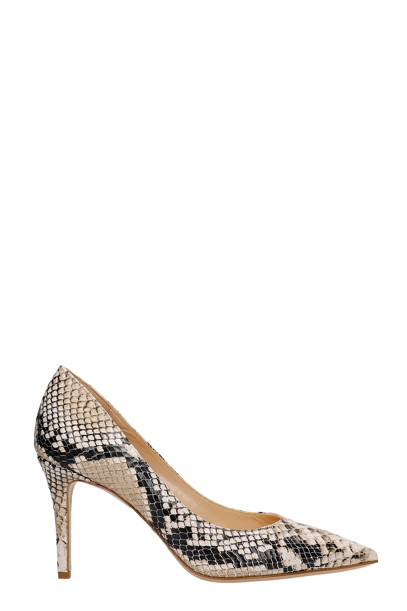 Pumps In Animalier Leather