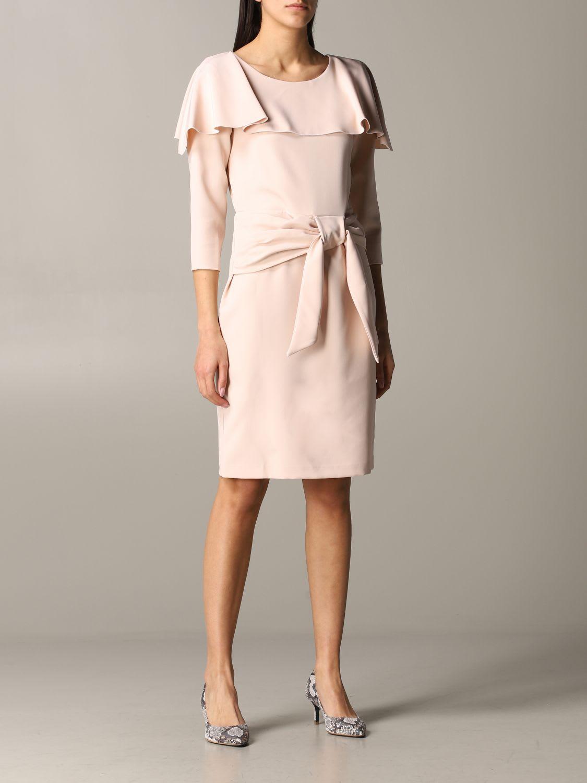 Be Blumarine DRESS BLUMARINE CADY DRESS WITH BOW