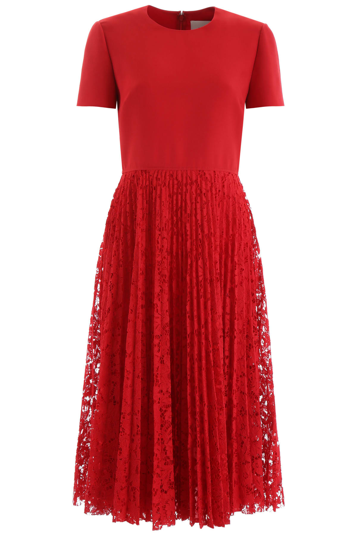 Valentino Midi Dress With Lace Skirt