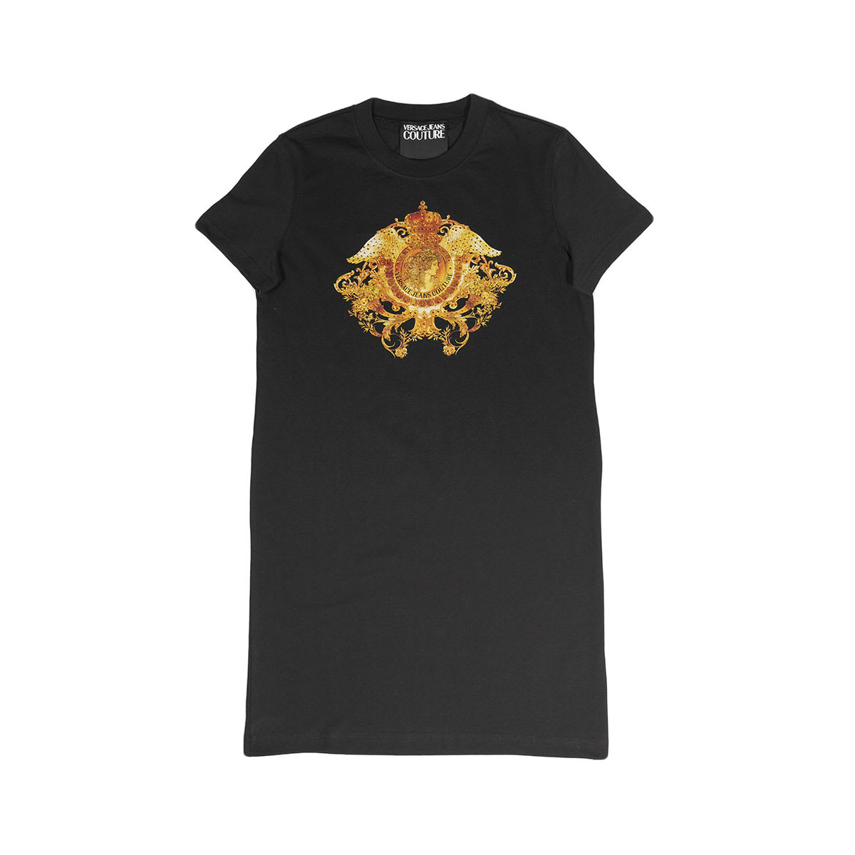 Buy Versace Jeans Couture Logo Print T-shirt Dress online, shop Versace Jeans Couture with free shipping
