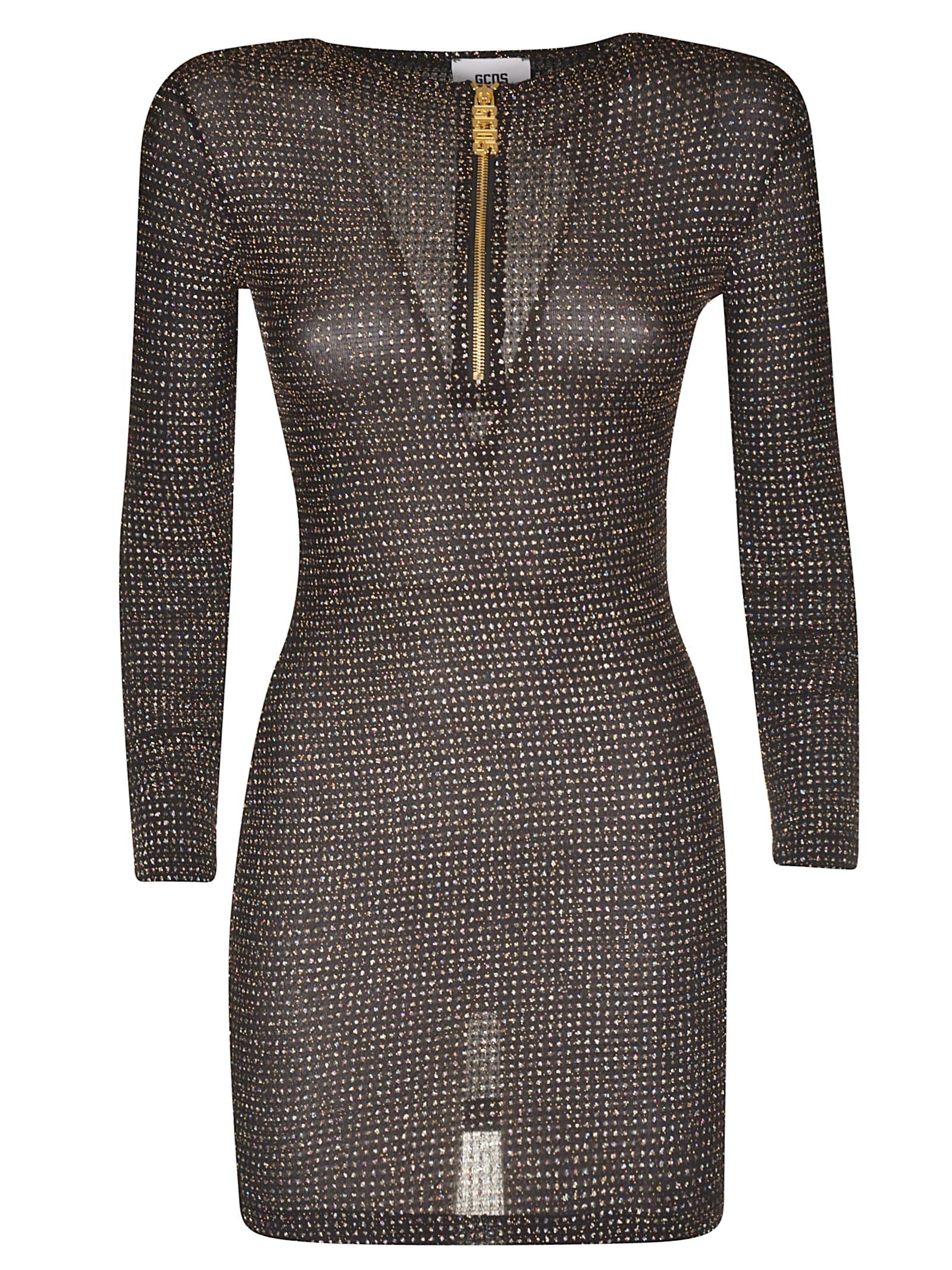 GCDS Front Zipped Dress